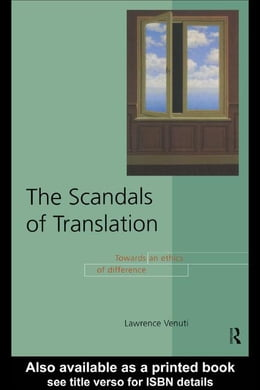 Book The Scandals of Translation by Venuti, Lawrence
