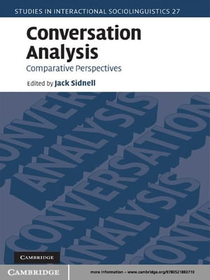 Conversation Analysis Comparative Perspectives