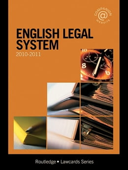 Book English Legal System Lawcards 2010-2011 by Routledge Chapman Hall