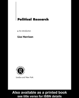 Book Political Research by Harrison, Lisa