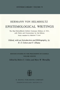 Epistemological Writings: The Paul Hertz/Moritz Schlick centenary edition of 1921, with notes and…