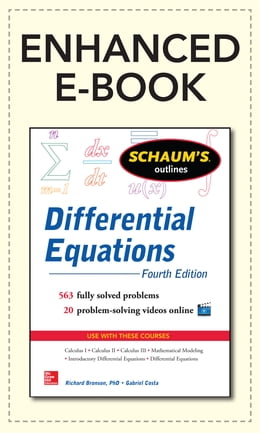Book Schaum's Outline of Differential Equations, 4th Edition by Richard Bronson
