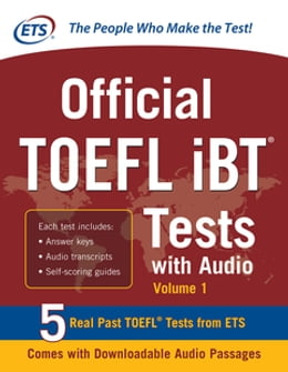 Book Official TOEFL iBT Tests with Audio: 3 Reading Tests + 3 Writing Tests + 3 Mathematics Tests by Educational Testing Service