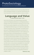 Language and Value: ProtoSociology Volume 31