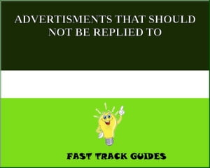 ADVERTISMENTS THAT SHOULD NOT BE REPLIED TO by Alexey