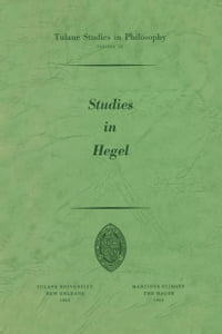 Studies in Hegel: Reprint 1960