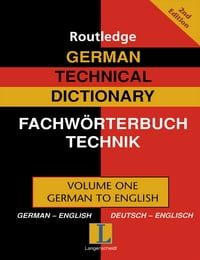 German Technical Dictionary (Volume 1)