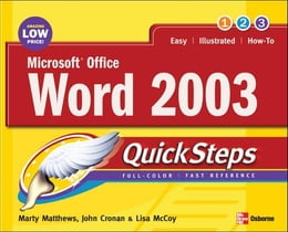 Book Microsoft Office Word 2003 QuickSteps by Matthews, Martin