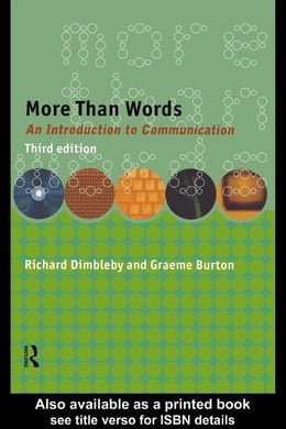 Book More Than Words by Dimbleby, Richard