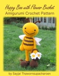 Happy Bee with Flower Basket Amigurumi Crochet Pattern 37142899-a7a9-4c1d-9289-3b860d12239f
