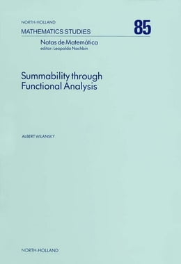Book Summability Through Functional Analysis by Wilansky, A.