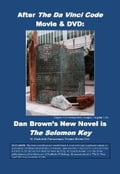 After The Da Vinci Code Movie & DVD: Dan Brown's New Novel Is The Solomon Key 64a6bf07-426d-441e-8de3-d07dc21bd494