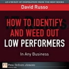 How to Identify and Weed Out Low Performers in Any Business by David Russo