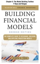 Building Financial Models, Chapter 5 - The Model Building Toolbox: F Keys and Ranges
