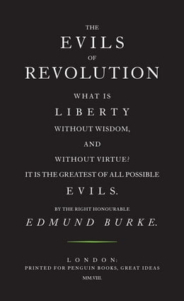 Book The Evils of Revolution by Edmund Burke