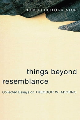 Book Things Beyond Resemblance: Collected Essays on Theodor W. Adorno by Robert Hullot-Kentor