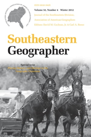 Southeastern Geographer Winter 2012 Issue