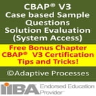 CBAP V3 Case study based question - Solution Evaluation - 1 by LN Mishra