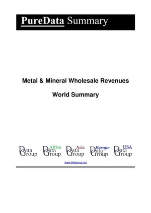 Metal & Mineral Wholesale Revenues World Summary: Market Values & Financials by Country by Editorial DataGroup