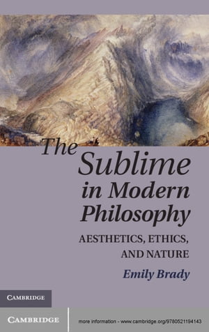 The Sublime in Modern Philosophy Aesthetics,  Ethics,  and Nature