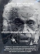 A critical analysis of einstein's article: by Daniele Ronconi-Pensa