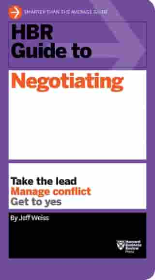 HBR Guide to Negotiating (HBR Guide Series)