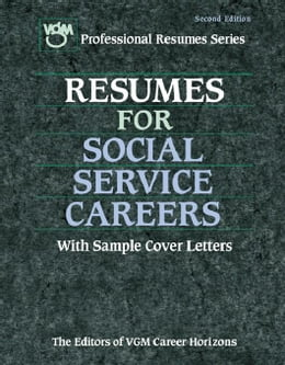 Book Resume for Social Service Careers by VGM, Editors of