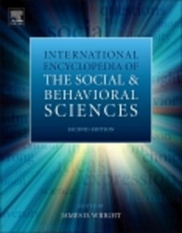 Book International Encyclopedia of the Social & Behavioral Sciences by Wright, James D.