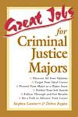Book Great Jobs for Criminal Justice Majors by Lambert, Stephen