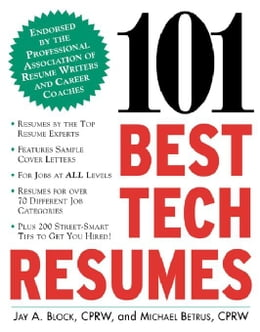 Book 101 Best Tech Resumes by Block, Jay A.