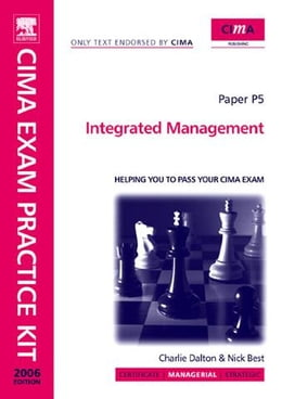 Book CIMA Exam Practice Kit Integrated Management by dalton, charlie