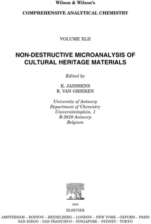 Non-destructive Micro Analysis of Cultural Heritage Materials