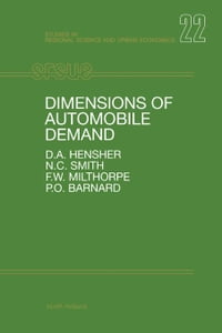Dimensions of Automobile Demand: A Longitudinal Study of Household Automobile Ownership and Use
