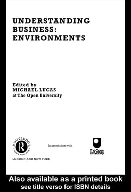 Book Understanding Business Environments by Lucas, Michael
