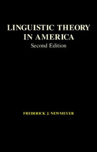 Linguistic Theory in America