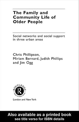 Book Family and Community Life of Older People by Phillipson, Chris