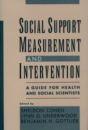 Social Support Measurement and Intervention A Guide for Health and Social Scientists