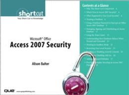 Book Microsoft Office Access 2007 Security (Digital Short Cut) by Alison Balter