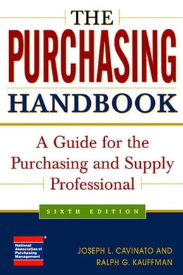 Book The Purchasing Handbook: A Guide for the Purchasing and Supply Professional by Cavinato, Joseph