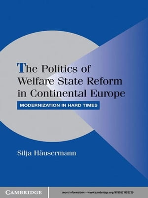 The Politics of Welfare State Reform in Continental Europe Modernization in Hard Times