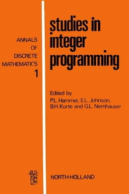Book Studies in integer programming by Hammer, Peter L.