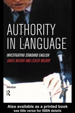 Book Authority in Language by Milroy, James
