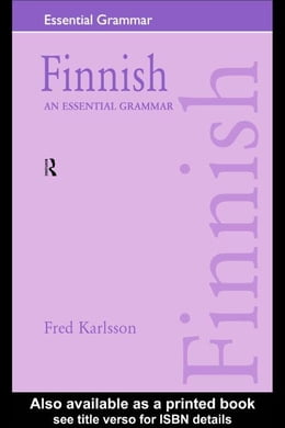 Book Finnish: An Essential Grammar by Karlsson, Fred