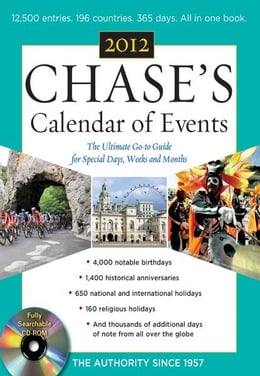 Book Chases Calendar of Events, 2012 Edition by Editors of Chase's Calendar of Events