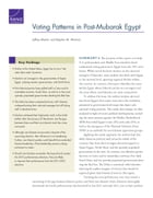 Voting Patterns in Post-Mubarak Egypt by Jeffrey Martini