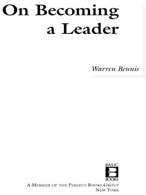 On Becoming a Leader