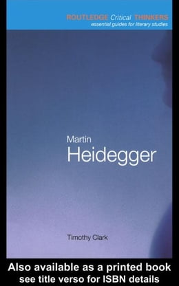 Book Martin Heidegger by Clark, Timothy