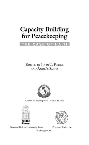 Capacity Building for Peacekeeping
