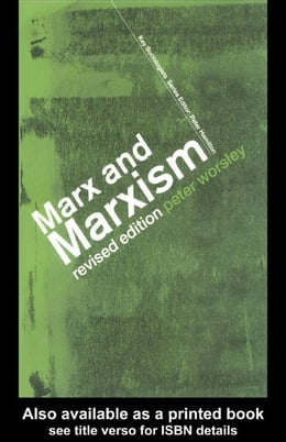 Book Marx and Marxism by Worsley, Peter