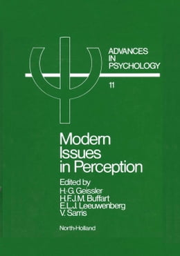 Book Modern Issues in Perception by Geissler, E.A.